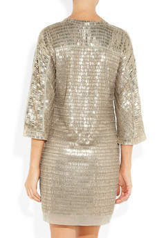 Embellished silk-chiffon mini dress by Reed Krakoff - from back