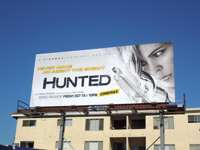 Hunted series premiere billboard