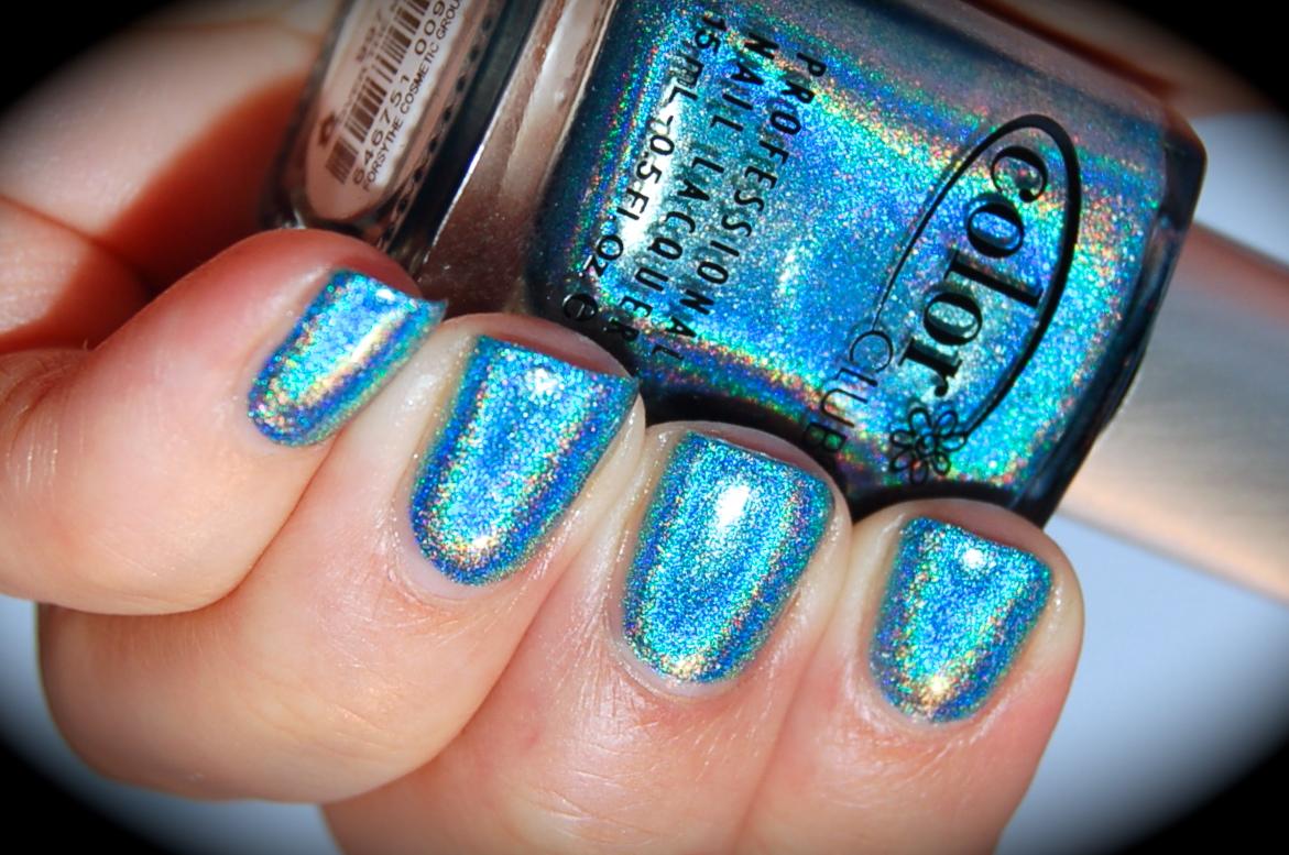 Swatch of Color Club Over the moon, Color Club Halo Hues 2013,blog, nail polish, blogg nagellack