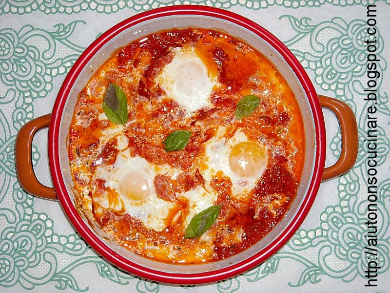 La ricetta delle uova al pomodoro aiuto non so cucinare for Cucinare 2 uova