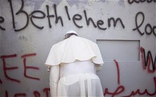 Pope at wall