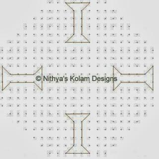 1 Deepam kolam with dots 20 to 8