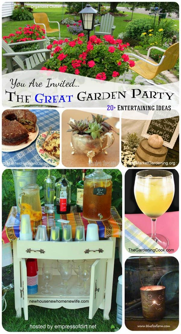 The Great Garden Party 20+ Entertaining Ideas  DIY Craft Projects