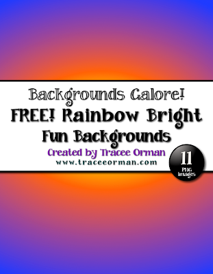FREE Rainbow Bright Backgrounds Clip Art for Commercial Use - www.traceeorman.com