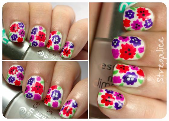 Neon Flowers nailart, Pupa L'Oreal