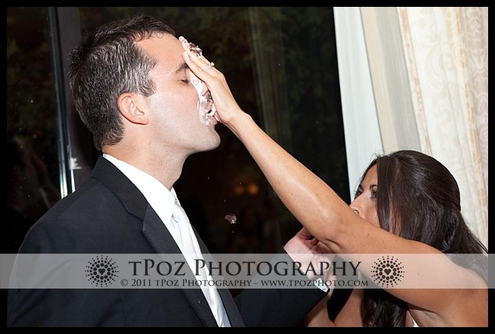 cake smash at the Turf Valley Wedding Waterford Ballroom
