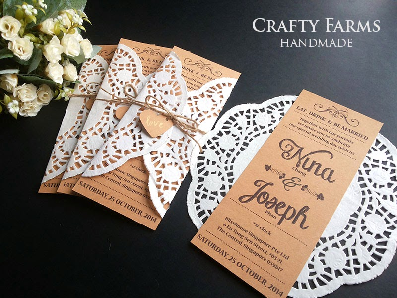 Flat Wedding Cards