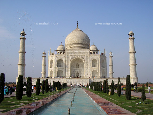 Indiagreatestplace thajmahal for Taj mahal exterior design