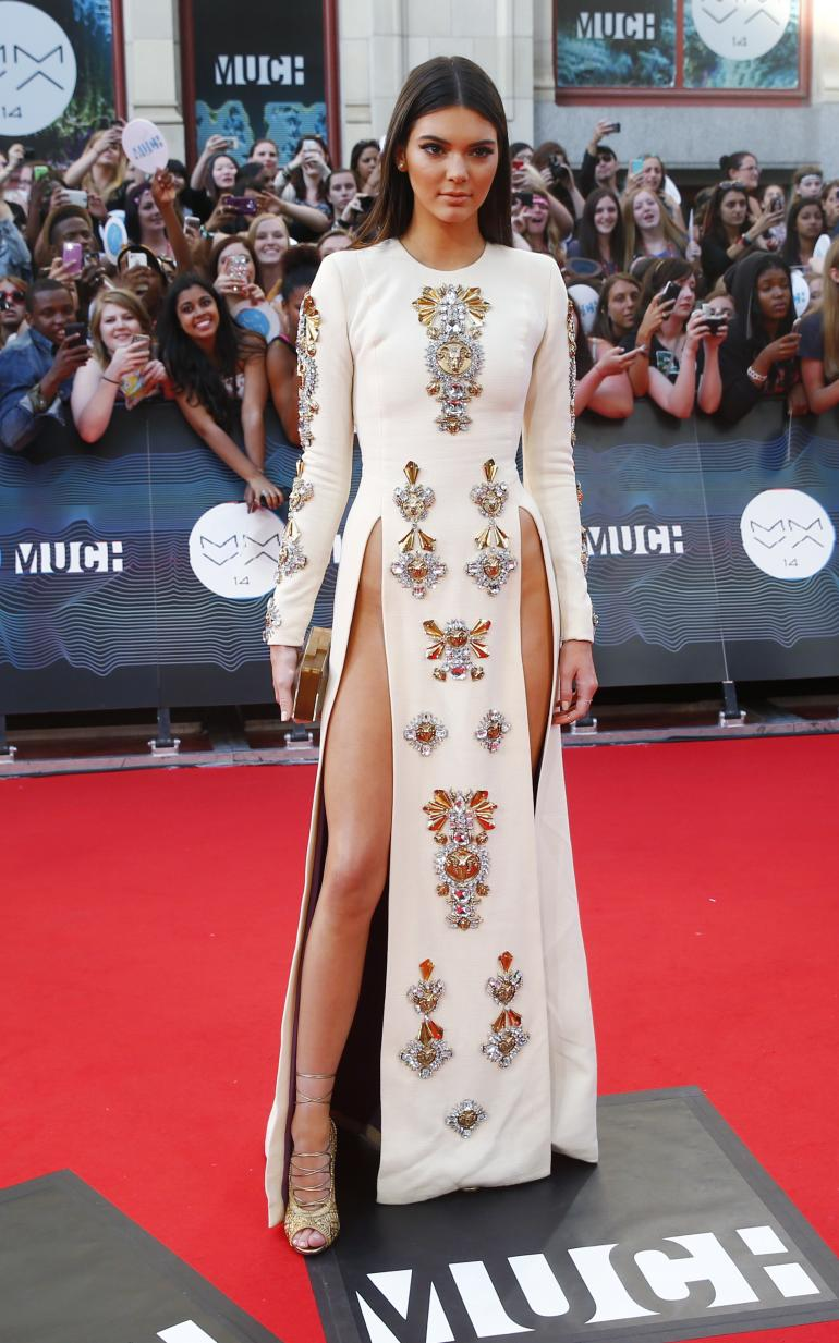 Kendall Jenner at the MuchMusic awards in a daring dress.