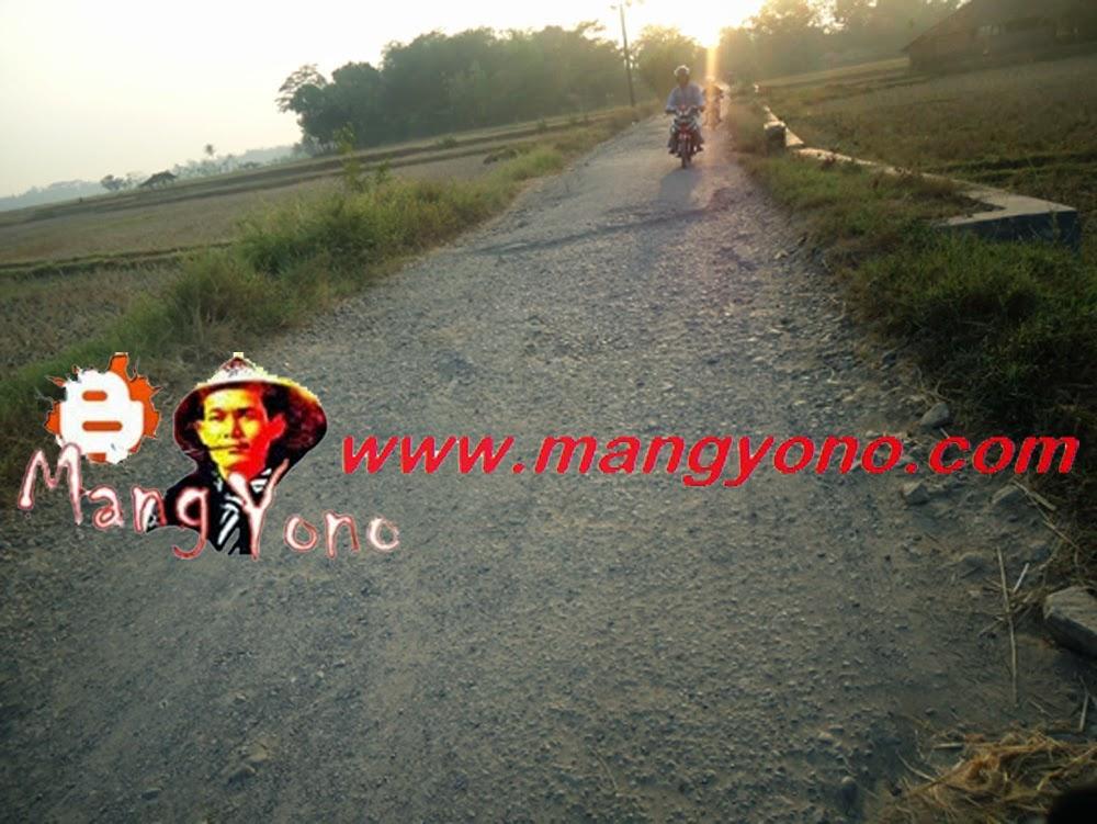 Jalan rusak di Kampung Gardu, Ciyuda, Bendungan, Pagaden Barat.