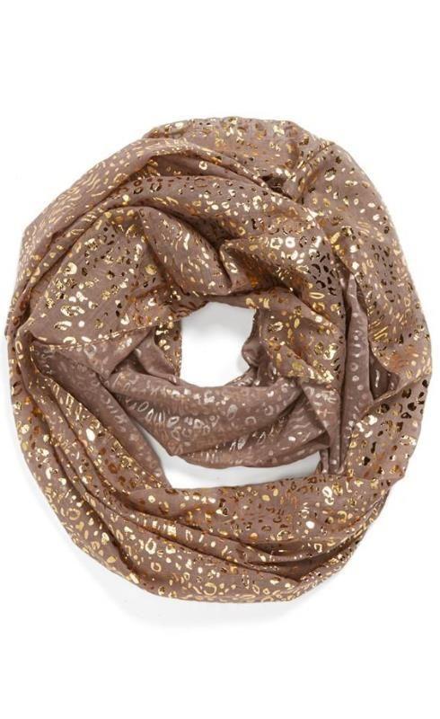 Metallic infinity scarf