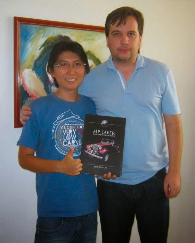 O livro do MP Lafer foi encomendado no Brasil através de um primo, o André Yamada, que despachou o exemplar pelos Correios junto com a correspondência da família.
