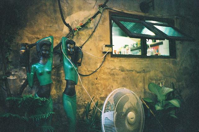 Color film Photography Bangkok of restaurant kitchen