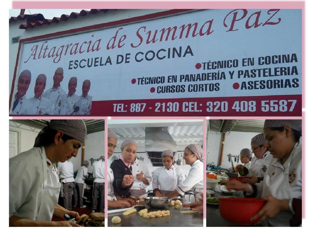 Escuela de cocina altagracia de summa paz for Escuela de cocina