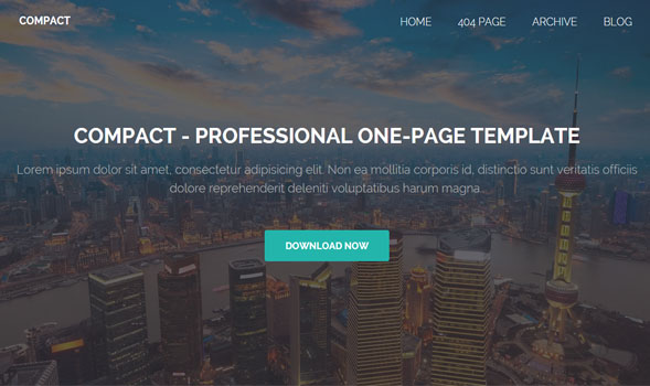 Compact One-Page Blogger Template