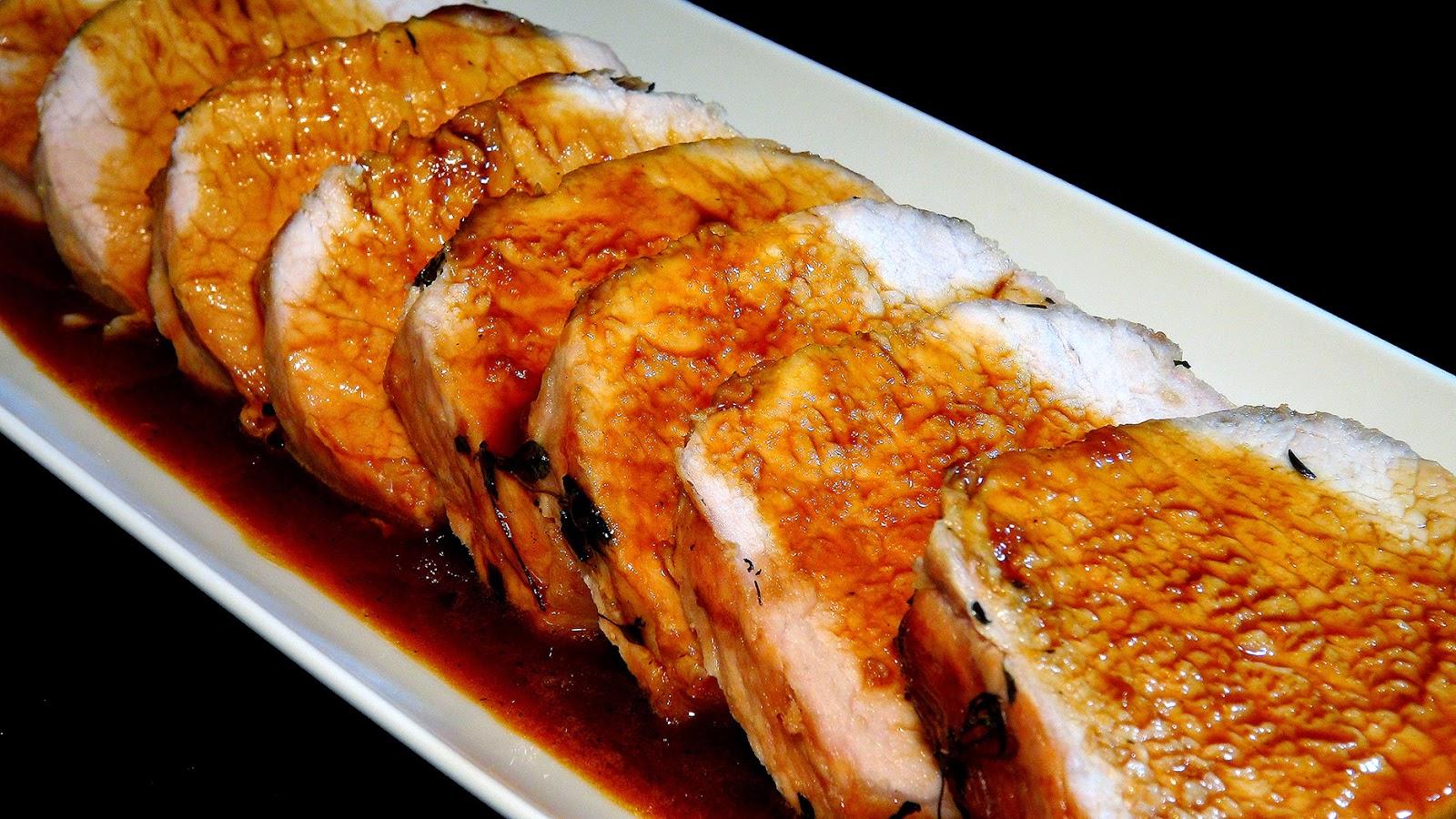 Cocinar Lomo De Cerdo | Cocinar Para Los Amigos Lomo De Cerdo Asado Con Salsa De Naranja