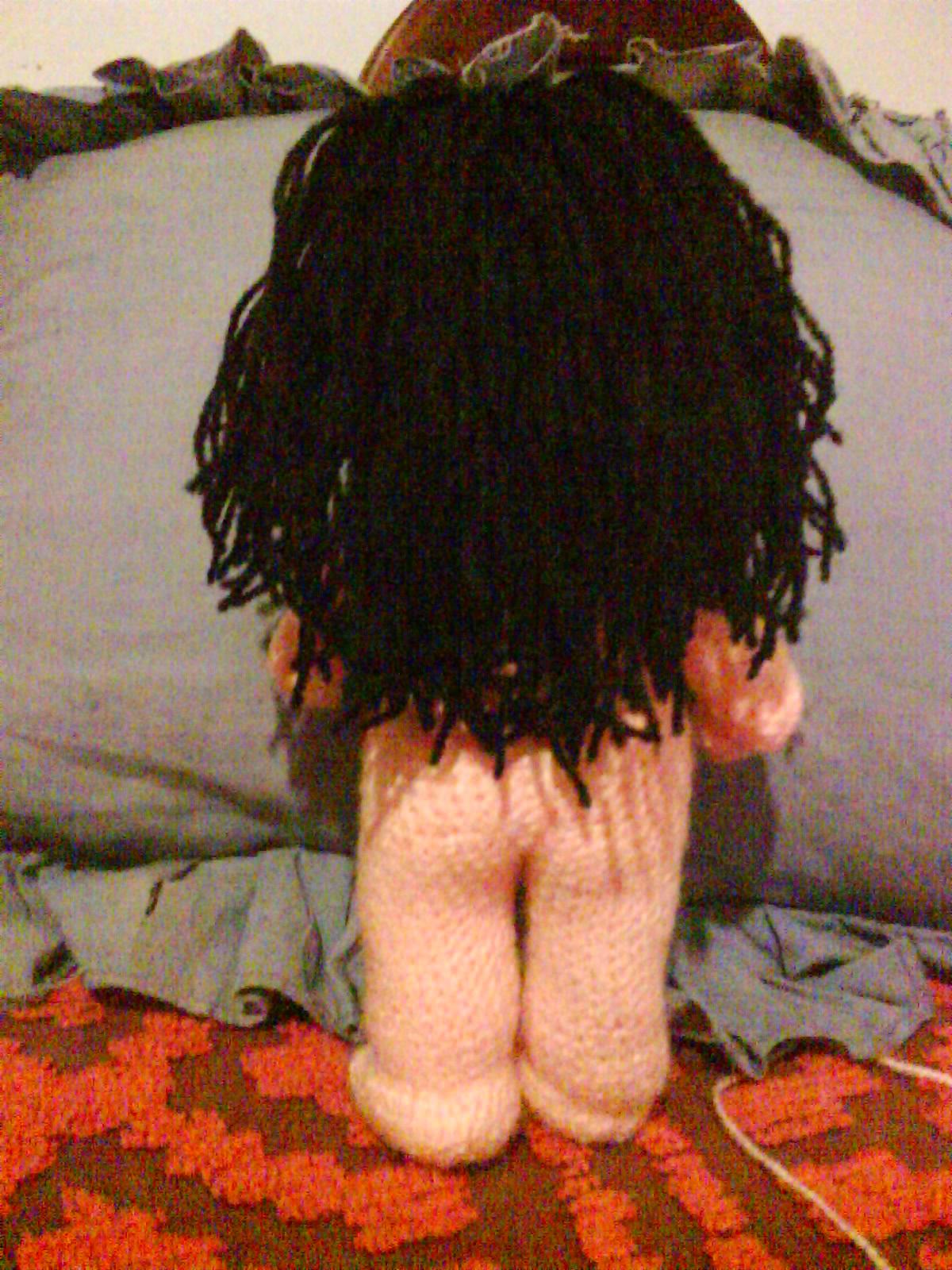 Mafalda de espalda