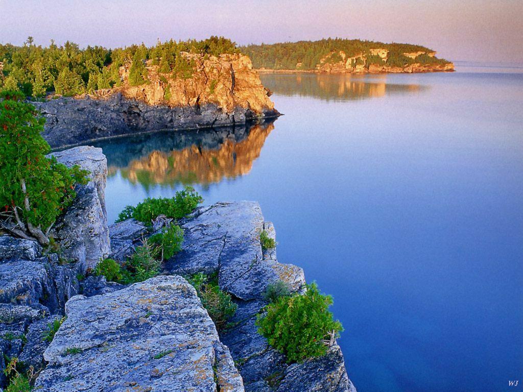 Danau Huron merupakan salah satu danau terbesar di Amerika utara