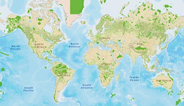 Un atlas educativo mundial muy interesante (y además es gratis) Areas+protegidas