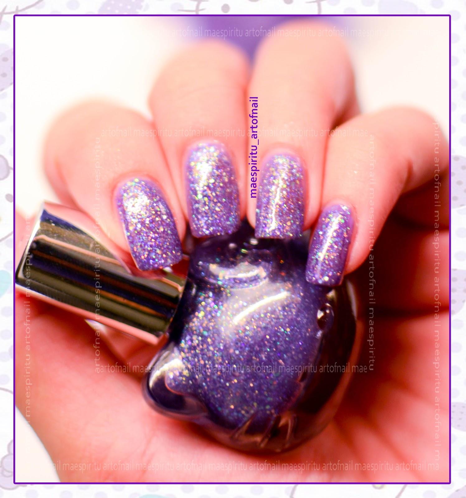 Nail Art Design Sephora Hello Kitty Purple Sprinkles Swatches
