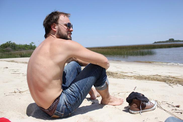 Andreas på stranda