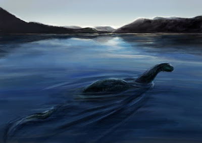 Sonar encontra uma fenda profunda no Lago Ness