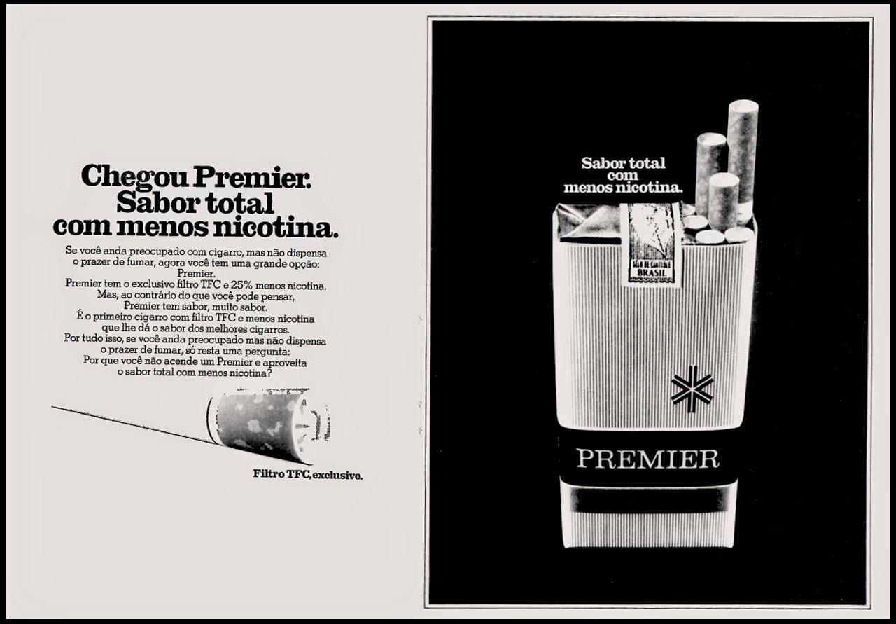 cigarros premier. propaganda anos 70; história decada de 70; reclame anos 70; propaganda cigarros anos 70; Brazil in the 70s; Oswaldo Hernandez;