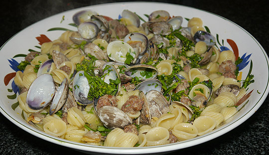 ... Whole Foods: Orecchiette with Broccoli Rabe, Clams & Italian Sausage