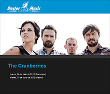 The Cranberries en Barcelona y Madrid en Octubre