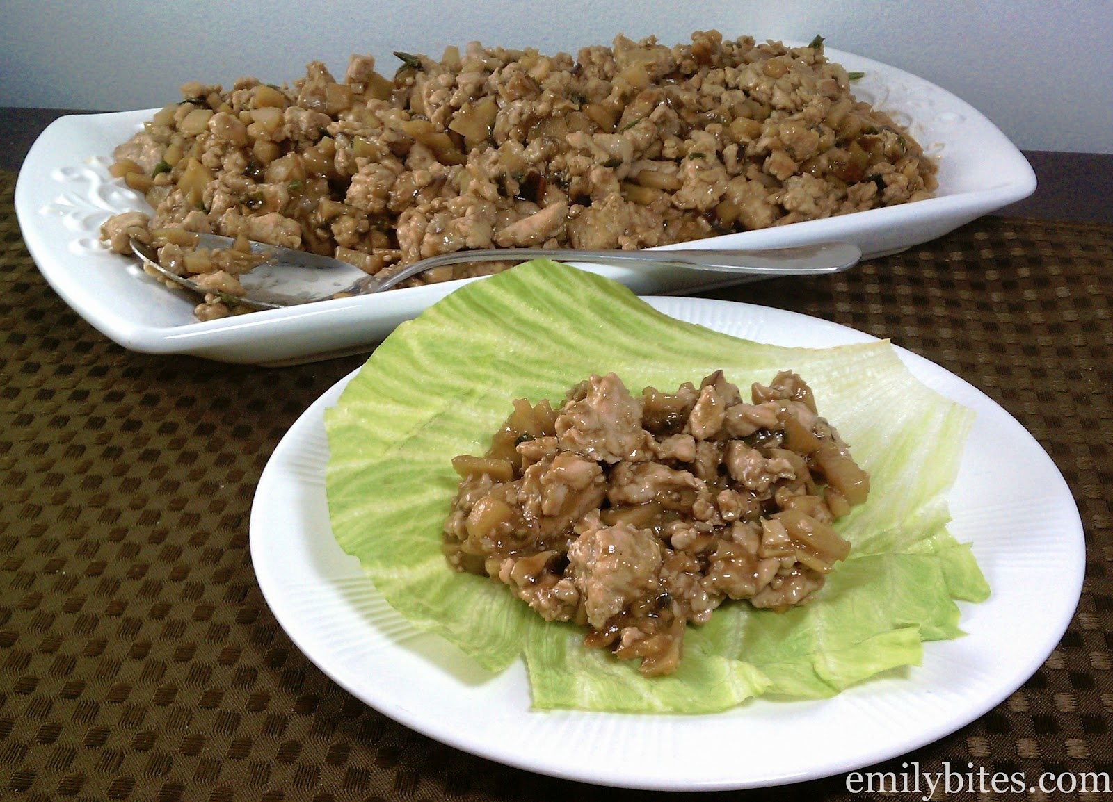Asian Chicken Lettuce Wraps - Emily Bites
