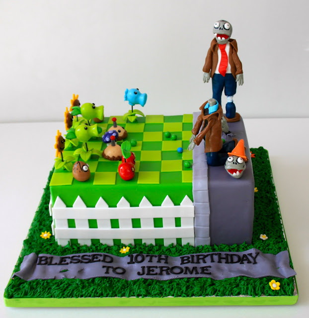 Celebrate with cake plants vs zombies cake for Anpanman cake decoration