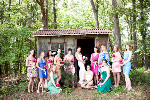 bridesmaid in country wedding