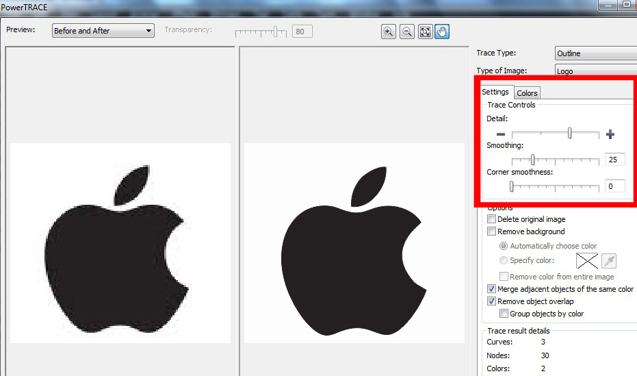 Corel Draw Bitmap To Vector Shape Conversation Making A Apple Logo