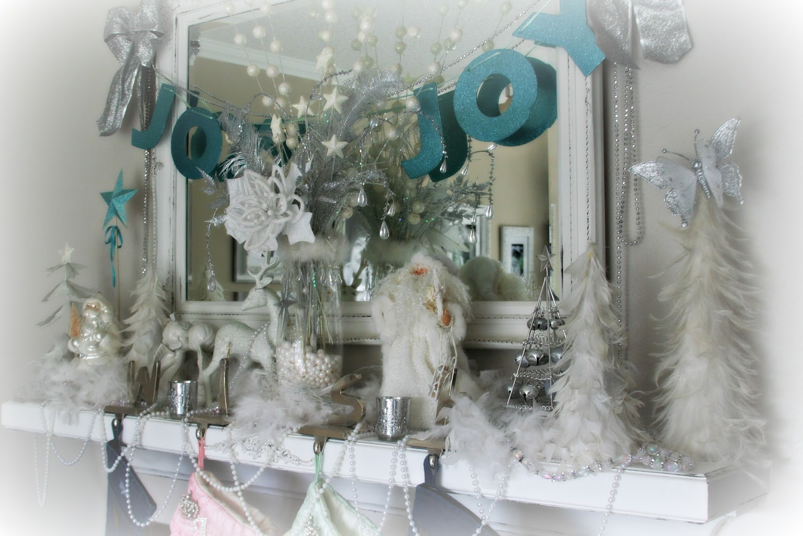 winter wonderland mantel holiday decorating pinterest