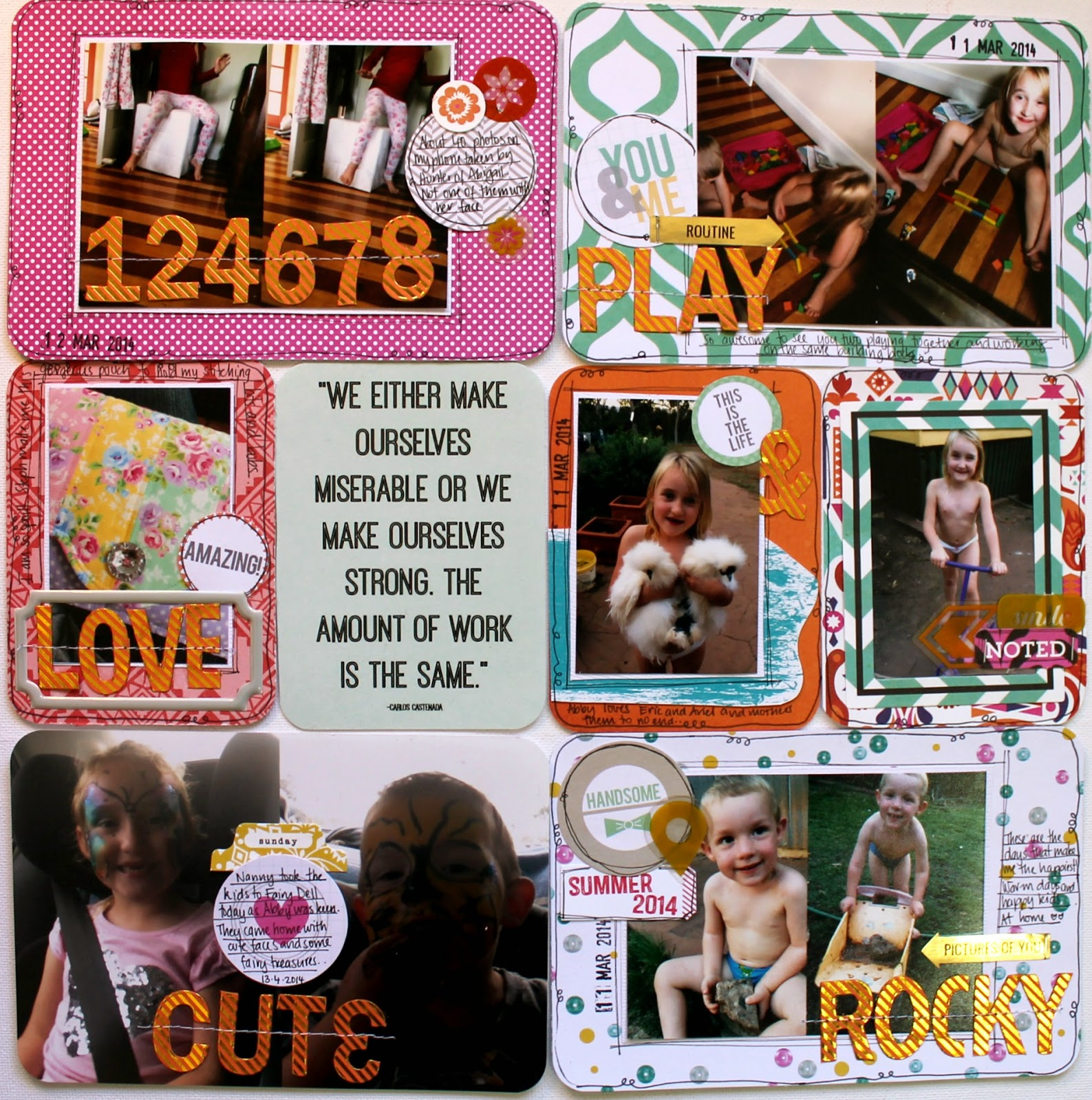 Week 15 Project Life layout by Bernii Miller using the Scrappy Canary August Bohemian kit.