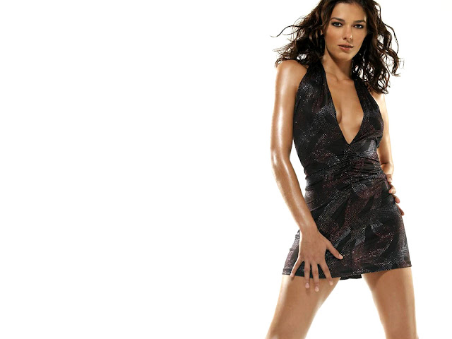 Adrianne Curry sexy in black dress