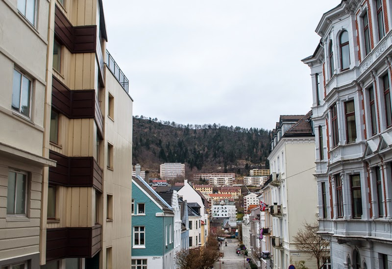 Picture of colourful houses in bergen
