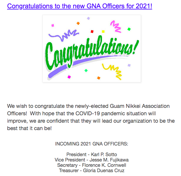 Newly-Elected 2021 GNA Officers