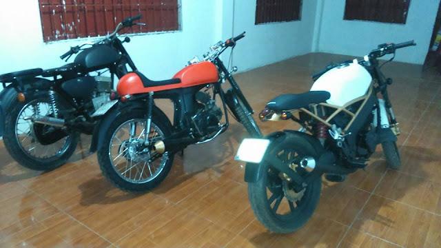 Foto Modifikasi Motor Honda CB Merah Jap Style Terbaru 2015
