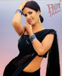 katrina kaif hot pictures in black saree