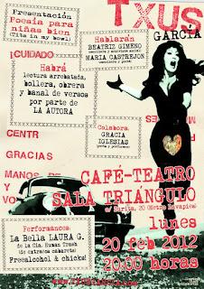 Txus García, Poesía para niñas bien, Cangrejo Pistolero Ediciones, Sala Triángulo
