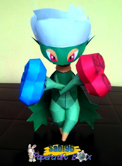 Pokemon Roserade Papercraft
