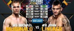 Vídeo da luta - John Lineker x Michael McDonald