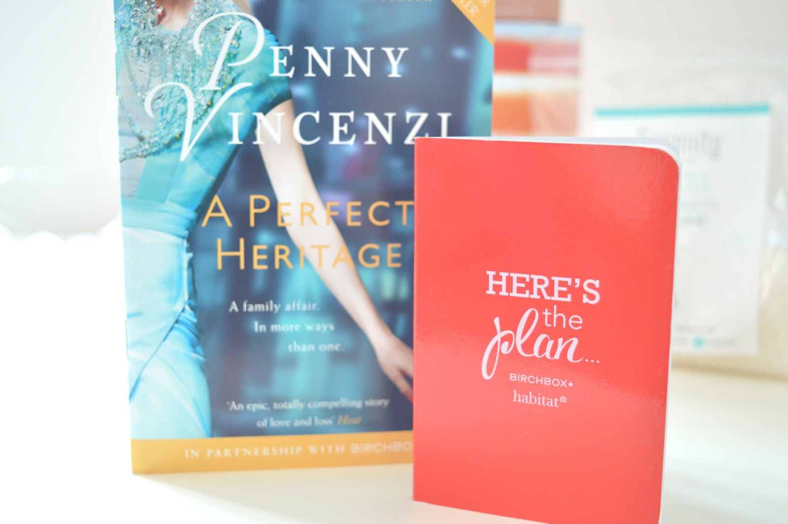 A Perfect Heritage by Penny Vincenzi and Habitat Birchbox Notepad