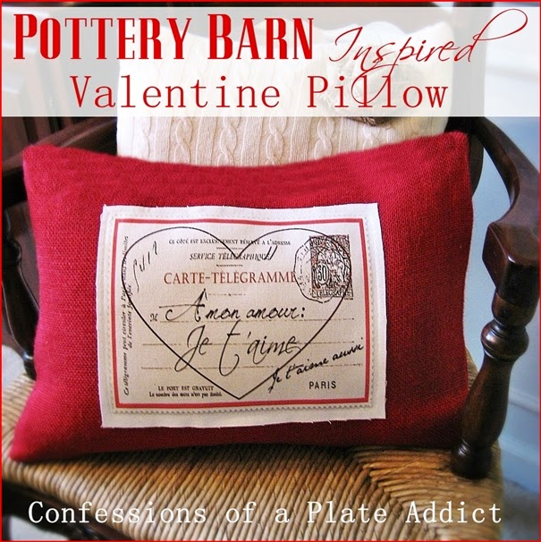 pottery barn inspired french valentine pillow - Valentine Pillow