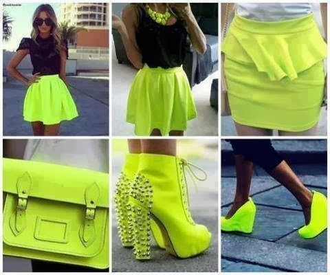 Cute Yellow Combination, Shoes, Handbag, Skirts