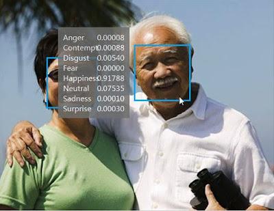 사진 이미지에서 인간 감정을 읽어 수치화 하는 마이크로소프트의 프로젝트