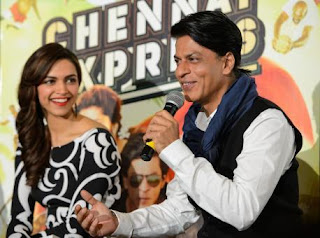Shahrukh Khan and Deepika Padukone promote Chennai Express in London