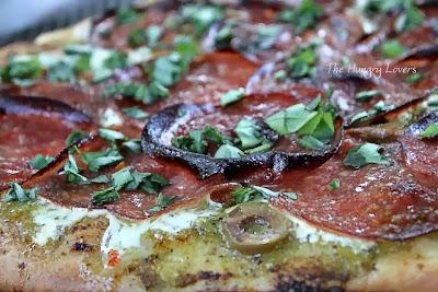 Arugula Pesto Pizza with Prosciutto
