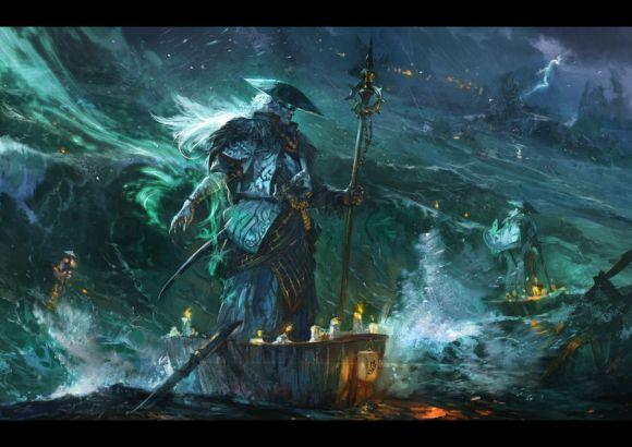 HongWen xaeroaaa deviantart ilustrações fantasia ficção científica Monge sombrio